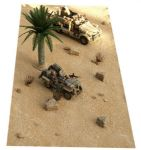 "FM5 Desert Sand Mat 12"" x 29"" rubber mat which can be cut to shape (Accessories not Incl)"